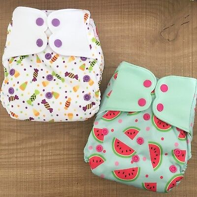 Cloth nappies- Heavy wetter All-in-one x 2 Elf nappies