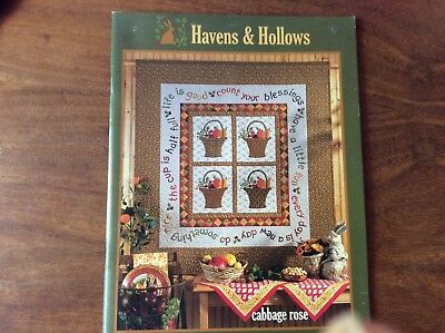 """QUILT BOOK """" HAVENS & HOLLOWS"""" by CABBAGE ROSE"""