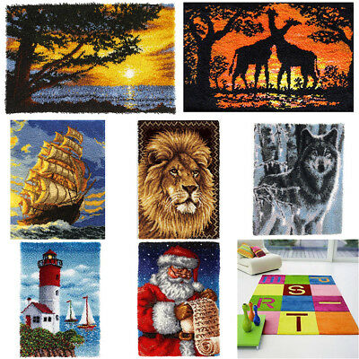 DIY Latch Hook Kit 16 models Needlecrafts Gift 43''  Rug Cute Animals