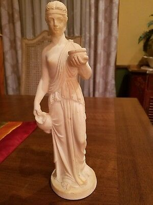 Hebe Greek goddess of youth statue figurine. Museum replica.