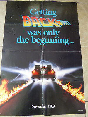 BACK TO THE FUTURE 2 - 1989  2 SIDED ADVANCE - approx. 27 X 40 - MICHAEL J. FOX