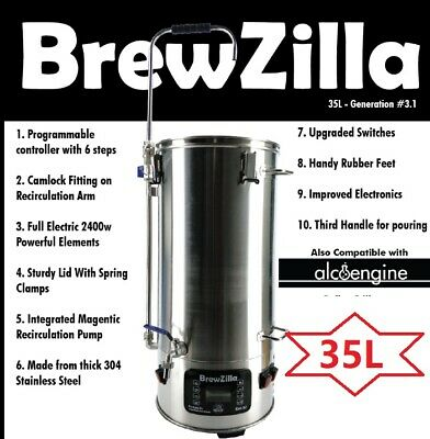 EOFY Sales:New 35L Robobrew Generation 3 Single Vessel All Grain Brewing System