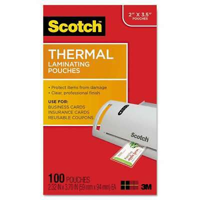 Scotch Business Card Size Thermal Laminating Pouches, 5 mil, 3 3 051141366623