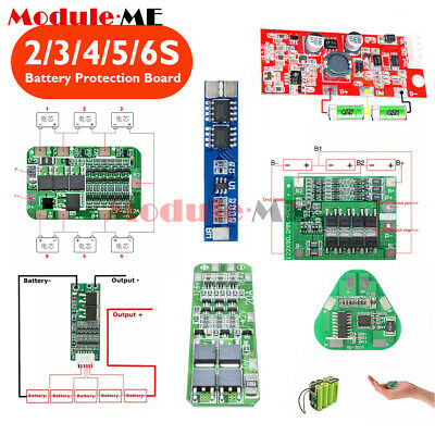 2S/3S/4S/5S/6S 3/5/8/10/15/20/30A 18650 Lithium Battery Protection PCB Board