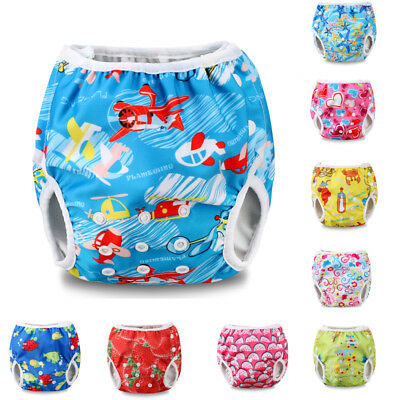 Baby Infant Boy Girl Toddler Reusable Adjustable Leakproof Swim Nappy Diaper