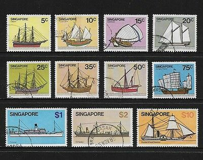 SINGAPORE 1980 Ships, Boats, No.1, 11 of 13, used
