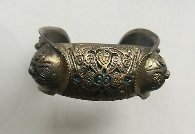 Antique 18c. Handmade Silver Alloy Bracelet. Ottoman Empire, Greek and Balkans.
