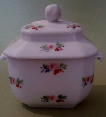 Sugar bowl Porcelain from Paris 19th Antique French China Sugar Cover Pot