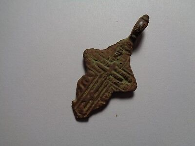 Russian empire old orthodox bronze female pendant cross 1800-1900 AD original 79