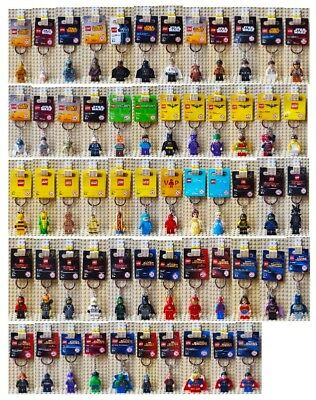 Lego Keyrings Keychains - Star Wars Marvel DC Ninjago Disney Princess Minecraft