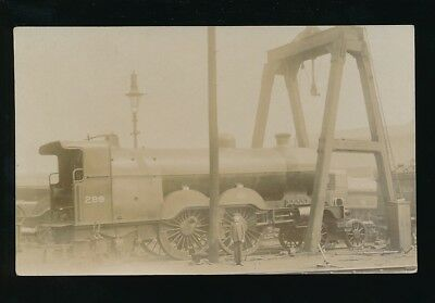 Railway GNR Engine #299 off bogey under lifting frame pre1919 RP PPC Pouteau