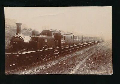 Railway GNR loco 120# at Potters Bar c1900/10s? RP PPC by Pouteau