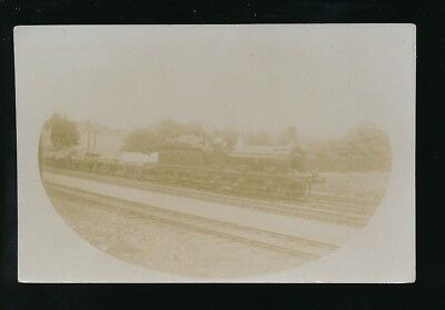 Railway GNR Engine No 407 at  Hadley Wood pre1919 RP PPC by Pouteau