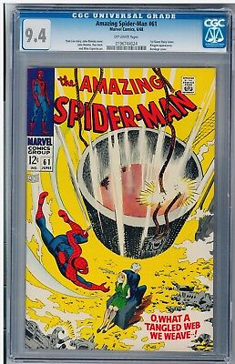 Amazing Spider-Man #61 CGC 9.4 1st Gwen Stacy Cover