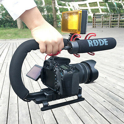 Video Stabilizer Camera Dslr Handle Grip Rig Set iPhone 7Plus Canon Camcorder MN
