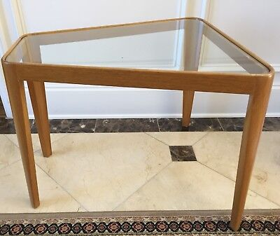 Rare EDWARD WORMLEY DUNBAR TRAPEZOID WEDGE Glass Side Table mid century modern