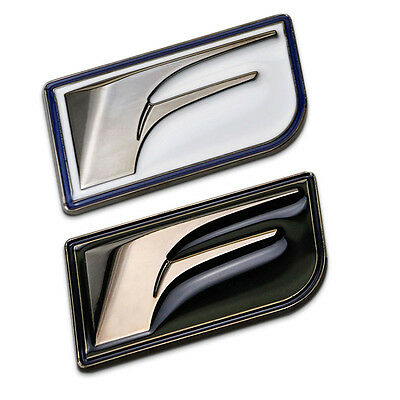FSPORT Car Auto Emblem Sticker Badge 100% 3D Metal Black White for Lexus