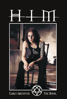 "HIM - THE BOOK  - Early Archives (deutsch)  + HIM ""Heartagram""-Aufkleber"