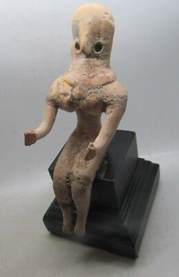 Circa 2000-1800Bc Ancient Indus Valley Harappan Seated Terracotta Fertility Idol