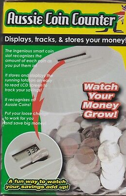 AUSSIE COIN COUNTER LCD Screen displays tracks stores - NEW - FREE SHIP Aust