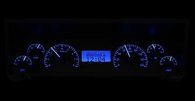 1977-90 Chevy Impala/Caprice VHX System, Black Alloy Style Face, Blue Display