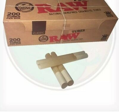 2 BOXES raw cigarette tubes 200 TUBES EACH