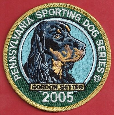 Pa Fish Game Commission  NEW Pennsylvania Sporting Dog 2005 Gordon Setter Patch