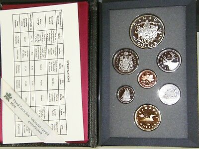 Canada 1994 Double Dollar Proof Coin Set Dog Team Sterling Silver $1 Boxed