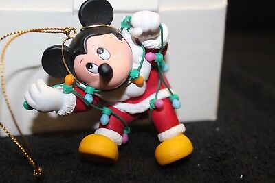 Disney Magic Christmas Collectible Ornament 'Mickey with Lights' - EC w/Box