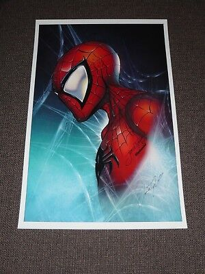 2018 ECCC SPIDERMAN ART PRINT BY JAMIE TYNDALL SIGNED 11x17