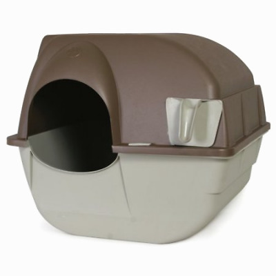 Cats Dogs Pet Self-Cleaning Litter Box Plastic Easy Use Bathroom Privacy Box New
