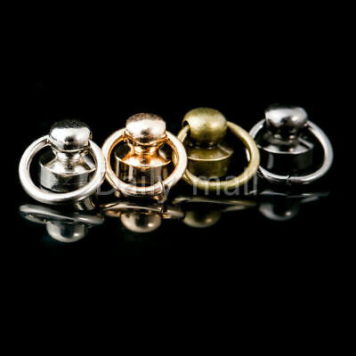 Ball Post with O ring Rivet Stud nail Round head Chicago Screw Back LeatherCraft
