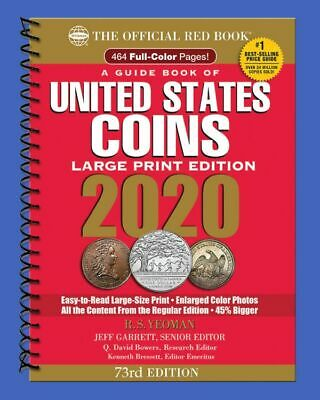 2020 Official Red Book of United States Coins - Large Print In Stock & Shipping