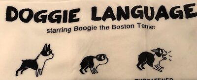 Boston Terrier Doggie Language Starring BoogIe The Boston 50 X 60 Throw Must See