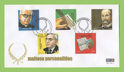 Malta 2005 Maltese Personalities set First Day Cover, Birkirkara