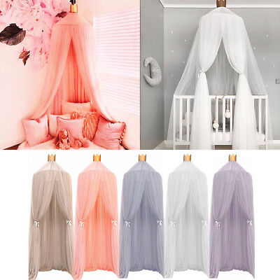 Kids Baby Bed Canopy Bedcover Mosquito Net Curtain Bedding Dome Tent Cotton AU!!