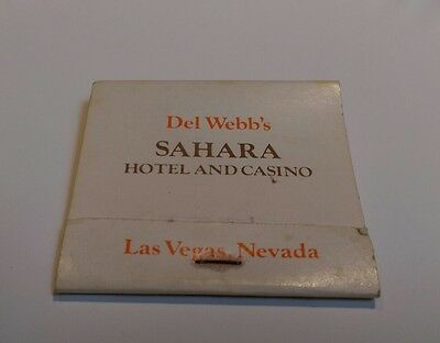 Rare matchbook Del Webb's Sahara Hotel And Casino Las Vegas Nevada restaurant