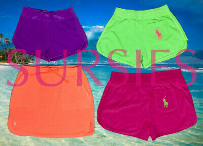 POLO RALPH LAUREN SHORTS SKIRT Girls Big Pony French Terry Bright Neon ALL SIZES