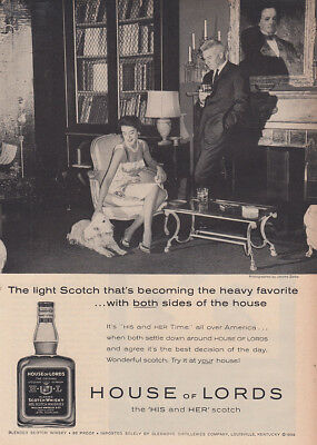 1960 House of Lords: Light Scotch That's Becoming Vintage Print Ad