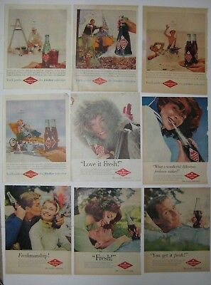 Vintage 50's Lot ROYAL CROWN COLA Ads Print Magazine THE FRESHER REFRESHER 10x14