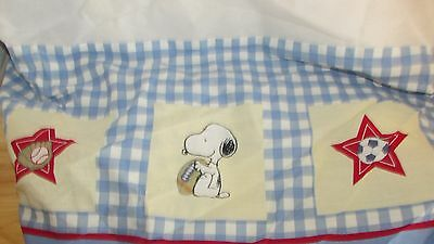 Peanuts snoopy woodstock sports ball crib skirt dust ruffle basketball baseball