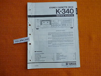 SERVICE MANUAL YAMAHA K 340 english Reparatur Anleitung cassette ...