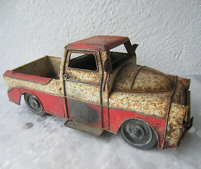 """13+""""  Antique  very rusty old truck  tin toy, automobile / car model  ....  /2/"""