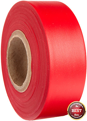 "Brady 1 3/16"" X 300' Red Flagging Tape"""