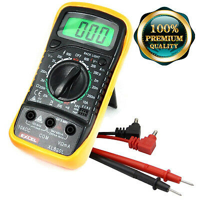 Digital Multimeter Voltmeter AC DC Voltage Tester Circuit Lot Checker LCD Leads