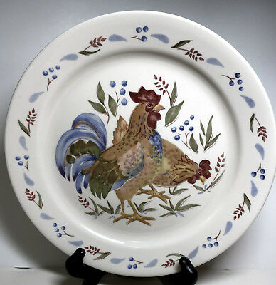 COUNTRY MORNING 4 piece set Corelle Corning Dinner Plate Rooster ...