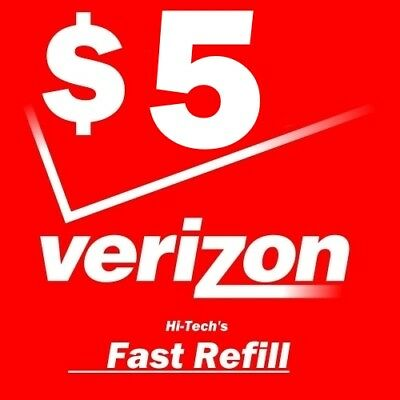 $5 VERIZON FASTEST ONLINE ELECTRONIC REFILL 25yr USA TRUSTED DEALER