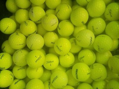100 USED Yellow Titleist NXT Tour S Practice GOLF BALLS mix. Read ad for quality