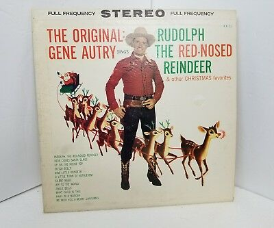 gene autry sings rudolph the red nosed reindeer 33 rpm lp record christmas songs - Christmas Songs Rudolph The Red Nosed Reindeer
