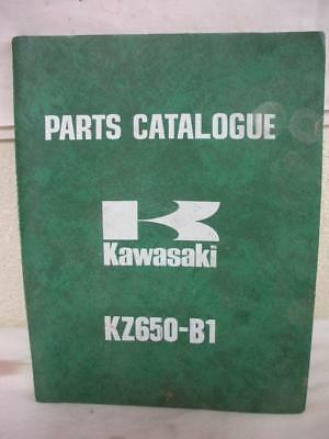 Original Japan Kawasaki  Parts Catalogue Kz650-B1